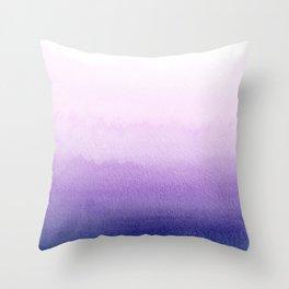 Purple Watercolor Design Throw Pillow