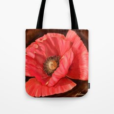 Red Poppy Two Tote Bag