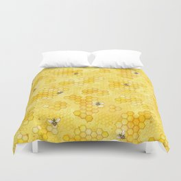 Meant to Bee - Honey Bees Pattern Duvet Cover