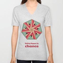 Geometric Mandala / Nothing happens by chance Unisex V-Neck