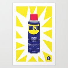 WDJD Stops Sqeaks Art Print