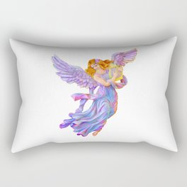 The Antique Angel Muse - Love of Poetry Rectangular Pillow