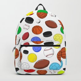 Colorful Sports Balls Random Pattern Backpack