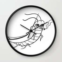 ROACH WITH ROACH Wall Clock