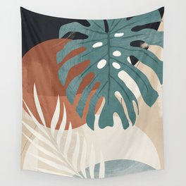 Abstract Art Tropical Leaves  Wall Tapestry