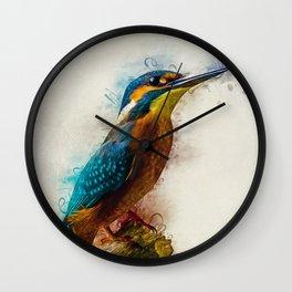 Kingfisher Art Wall Clock