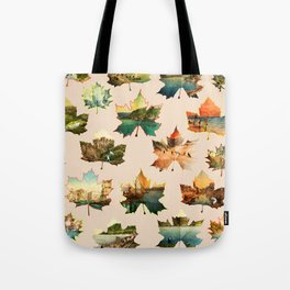 Memory in Leaves Tote Bag