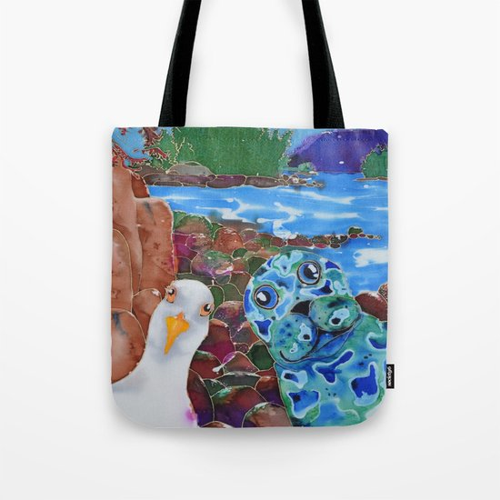 Selfie at Bennett Bay Tote Bag