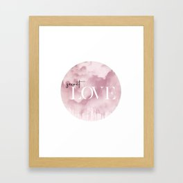 Secret Love Framed Art Print
