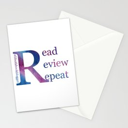 Read, Review, Repeat Stationery Cards