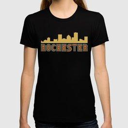Vintage Style Rochester New York Skyline T-shirt
