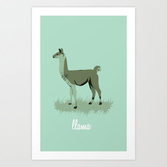 4-legged Exotica Series: Llama Art Print