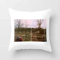 supreme Throw Pillows featuring supreme by lizbee