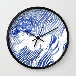 Water Nymph XVII Wall Clock