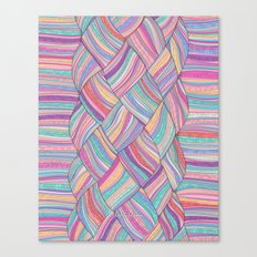 PINKBRAIDS Canvas Print