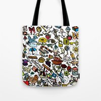 the 100 Tote Bags featuring 100 things by Michelle Behar
