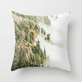 Hills & Fog #photography #nature Throw Pillow