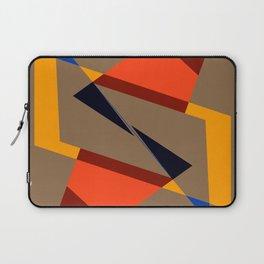 geometric symmetry orange and yellow Laptop Sleeve