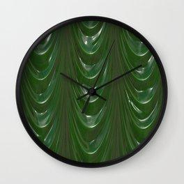 Decadent drapery,dark green Wall Clock