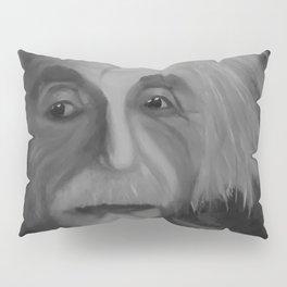 Albert Einstein, Original painting by Lu, black-and-white Pillow Sham
