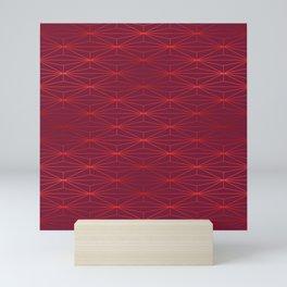 ELEGANT BEED RED TANGERINE PATTERN v3 Mini Art Print
