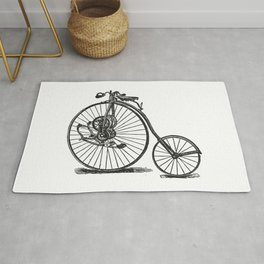 Old bicycle Rug