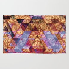 Triangles at Night Rug