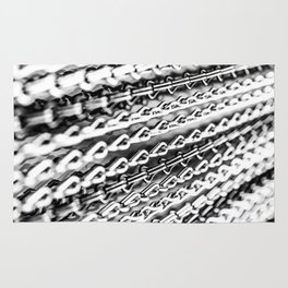 Chains. Black And White. Rug