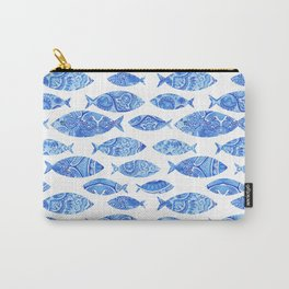 Folk watercolor fish pattern Carry-All Pouch