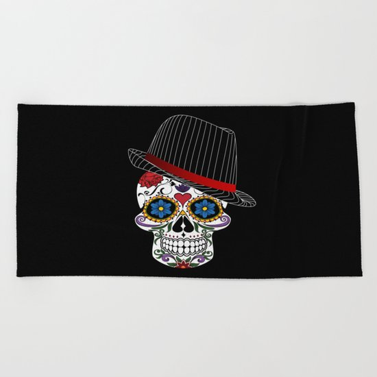 Hipster Modern and Trendy Skull Horror Beach Towel