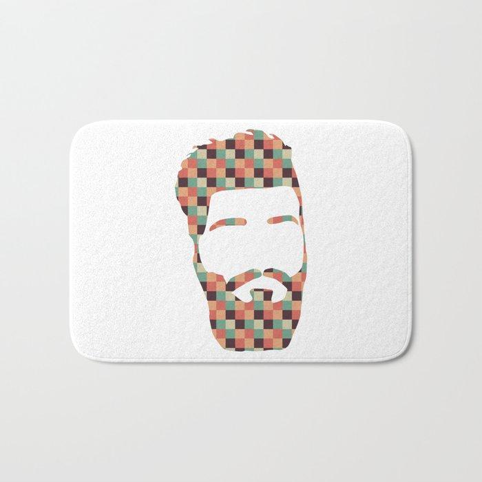 Hipster beard Bath Mat
