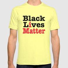 BLACK LIVES MATTER MEDIUM Lemon Mens Fitted Tee
