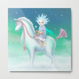 Lady Of The Cold Metal Print
