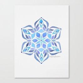 Blue Snowflake Canvas Print