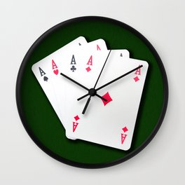 Poker of Aces Wall Clock
