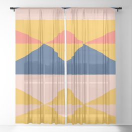 Minimal Southwestern Summer Sheer Curtain