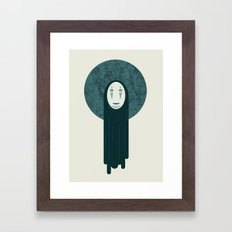 Spirited away, no face  Framed Art Print