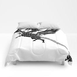 Tribal Dragon Tattoo Comforters