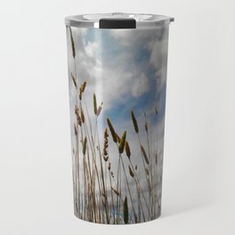 Wheat and Clouds Travel Mug