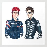 my chemical romance Art Prints featuring My Chemical Pilots by poweredbycokezero