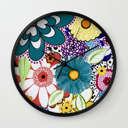 Bloomin' Flowers Wall Clock