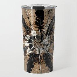 native vintage mandala Travel Mug