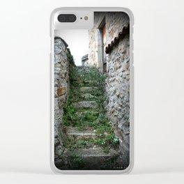 Ancient Steps, Mont Peyroux, Auvergne, France. Clear iPhone Case
