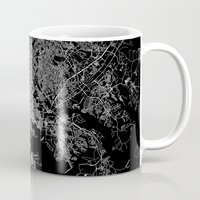 maryland Mugs featuring Baltimore map Maryland by Line Line Lines