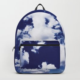 Dramatic dark blue sky Backpack