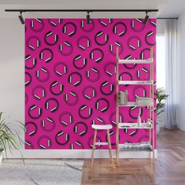 Headphones-Pink Wall Mural
