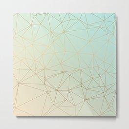 Pastel Geometric Minimalist Pattern Metal Print