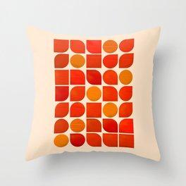 Fun Geometry - Mid-century abstract Throw Pillow