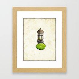 Lime Amp Framed Art Print