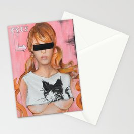 Here Kitty Kitty Stationery Cards